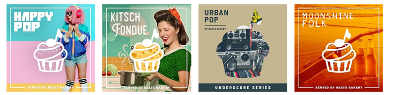 A selection of Beats and Bakery album covers